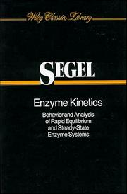Cover of: Enzyme Kinetics