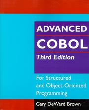 Cover of: Advanced COBOL for Structured and Object-Oriented Programming, 3rdEdition