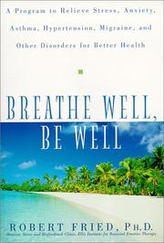 Cover of: Breathe Well, Be Well
