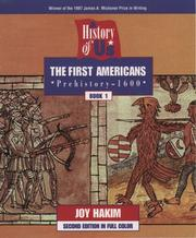 Cover of: The first Americans | Joy Hakim