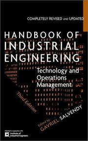 Handbook of Industrial Engineering: Technology and Operations Management