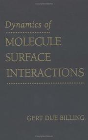 Cover of: Dynamics of molecule surface interactions