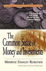 Cover of: The common sense of money and investments