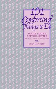 Cover of: 101 Comforting Things to Do