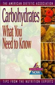 Cover of: Carbohydrates
