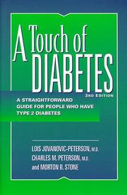 Cover of: A Touch of Diabetes | Charles M. Peterson