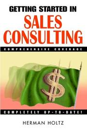 Cover of: Getting started in sales consulting