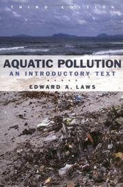 Cover of: Aquatic pollution
