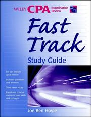 Cover of: Wiley CPA examination review fast track study guide