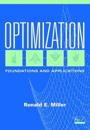 Cover of: Optimization