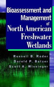Cover of: Bioassessment and Management of North American Freshwater Wetlands |