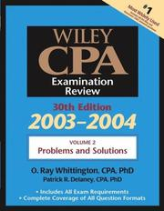 Wiley CPA Examination Review, Volume 2, Problems and Solutions, 30th Edition, 2003-2004