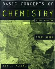 Cover of: Basic Concepts of Chemistry, Study Guide | Leo J. Malone