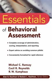 Cover of: The Essentials of Behavioral Assessment | Michael C. Ramsay