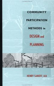 Cover of: Community Participation Methods in Design and Planning