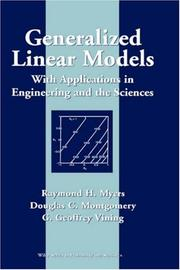 Cover of: Generalized Linear Models | Raymond H. Myers