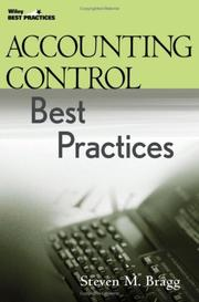 Cover of: Accounting control best practices