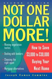 Cover of: Not One Dollar More! | Joseph Éamon Cummins