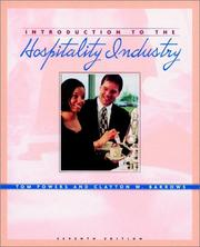 Cover of: Introduction to the Hospitality Industry | Tom Powers