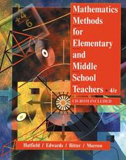 Cover of: Mathematics methods for elementary and middle school teachers. |