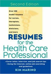 Cover of: Resumes for the Health Care Professional