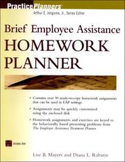 Cover of: The Brief Employee Assistance Homework Planner (Book with Diskette) by Lise B. Mayers, Diana L. Rabatin