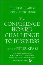 Cover of: The Conference Board Challenge to Business | Peter Krass