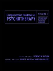Cover of: Comprehensive Handbook of Psychotherapy, Interpersonal/Humanistic/Existential (Comprehensive Handbook of Psychotherapy) |