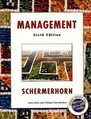 Cover of: Management | John R. Schermerhorn