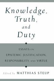 Cover of: Knowledge, Truth, and Duty