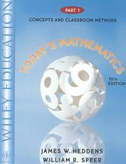 Cover of: Today's mathematics