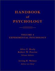 Handbook of Psychology, Volume 4: Experimental Psychology