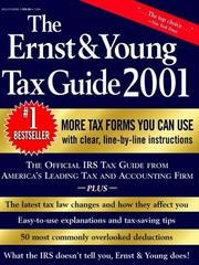Cover of: The Ernst & Young Tax Guide 2001 | Peter W. Bernstein