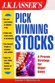 Cover of: J.K. Lasser's Pick Winning Stocks  (J.K. Lasser)