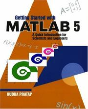 Cover of: Getting started with MATLAB 5