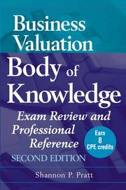 Cover of: Business valuation body of knowledge