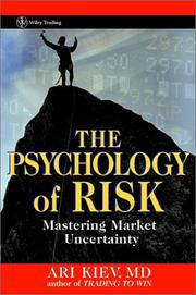 Cover of: The Psychology of Risk