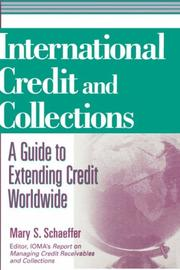 Cover of: International Credit and Collections