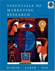 Cover of: Essentials of marketing research | V. Kumar