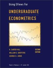 Cover of: Using EViews for undergraduate econometrics