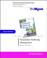 Cover of: Hospitality Marketing Management, Student Workbook | Robert D. Reid