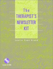 Cover of: The therapist's newsletter kit