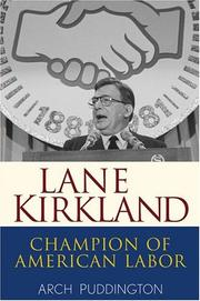 Cover of: Lane Kirkland | Arch Puddington