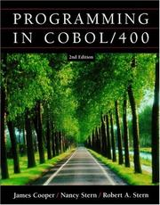 Cover of: Programming In COBOL / 400 | Cooper (I), James