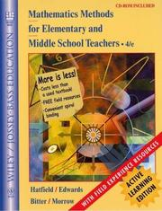 Cover of: Mathematics Methods for Elementary and Middle School Teachers, Active Learning Edition | Mary M. Hatfield