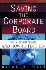 Cover of: Saving the Corporate Board