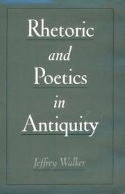 Cover of: Rhetoric and poetics in antiquity
