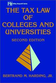 Cover of: The tax law of colleges and universities