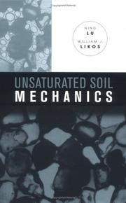 Cover of: Unsaturated soil mechanics by