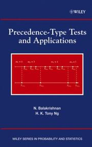 Cover of: Precedence-type tests and applications